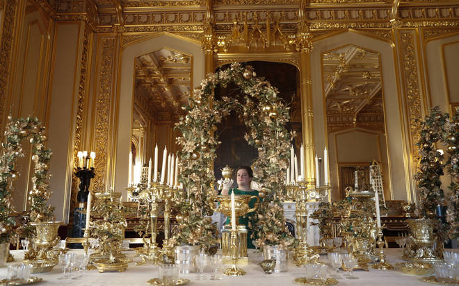 The Grand Service is laid out - imagine eating Christmas dinner off of this!