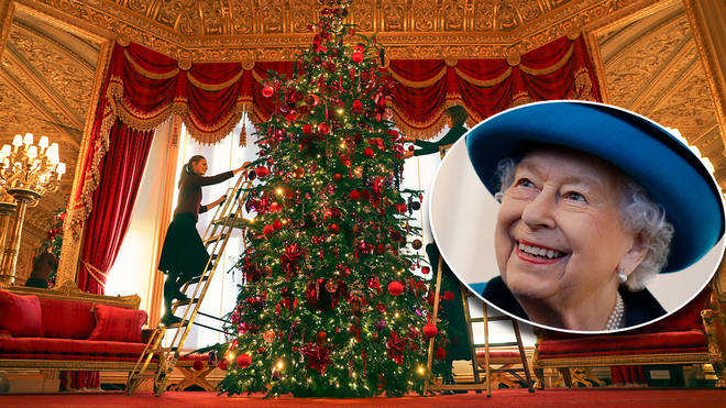 The Queen goes all out at Christmas
