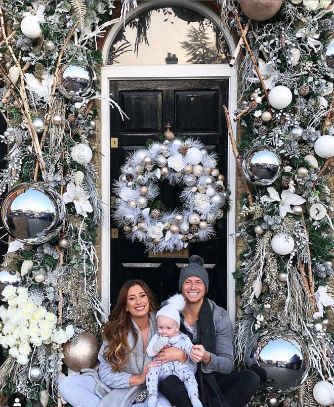 Stacey's festive Christmas door display