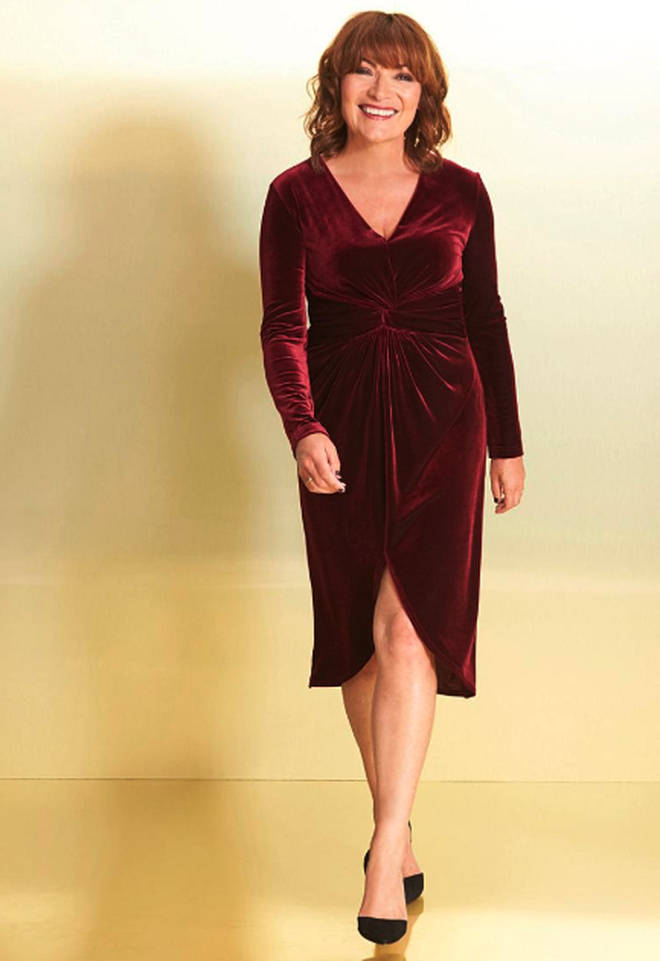 Burgundy dress from JD Williams