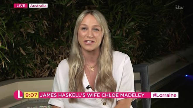 Chloe spoke on ITV's Lorraine live from Australia