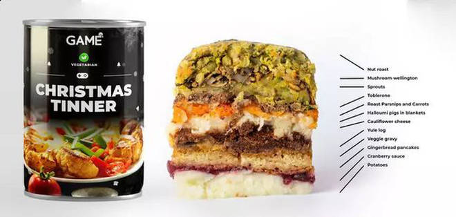 You can get vegetarian Christmas dinner in a tin