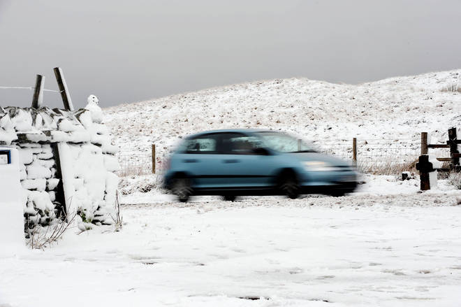 The UK will be coated in snow over winter
