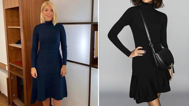 Holly Willoughby's This Morning outfit today: How to get her £185 black dress from Reiss