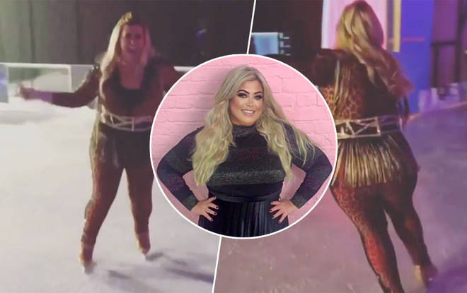 Gemma is looking slimmer than ever in her newest post