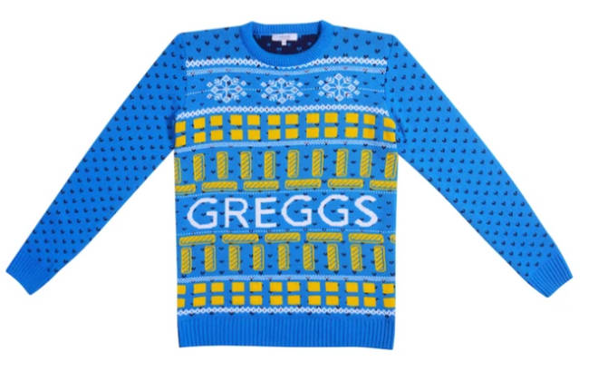 You can now buy a Greggs vegan sausage roll Christmas jumper