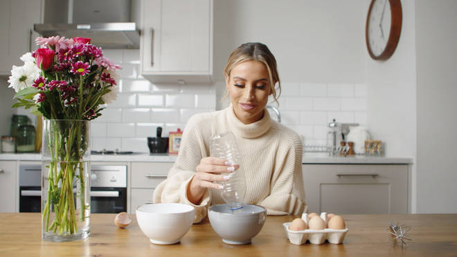 Ferne McCann shows off her nifty trick for separating eggs