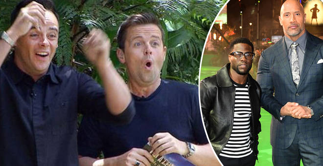 The Rock and Kevin Hart are set to enter I'm A Celeb
