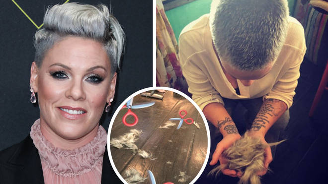 Pink reveals she has shaved all her hair off as she 'lets go' in powerful Instagram post