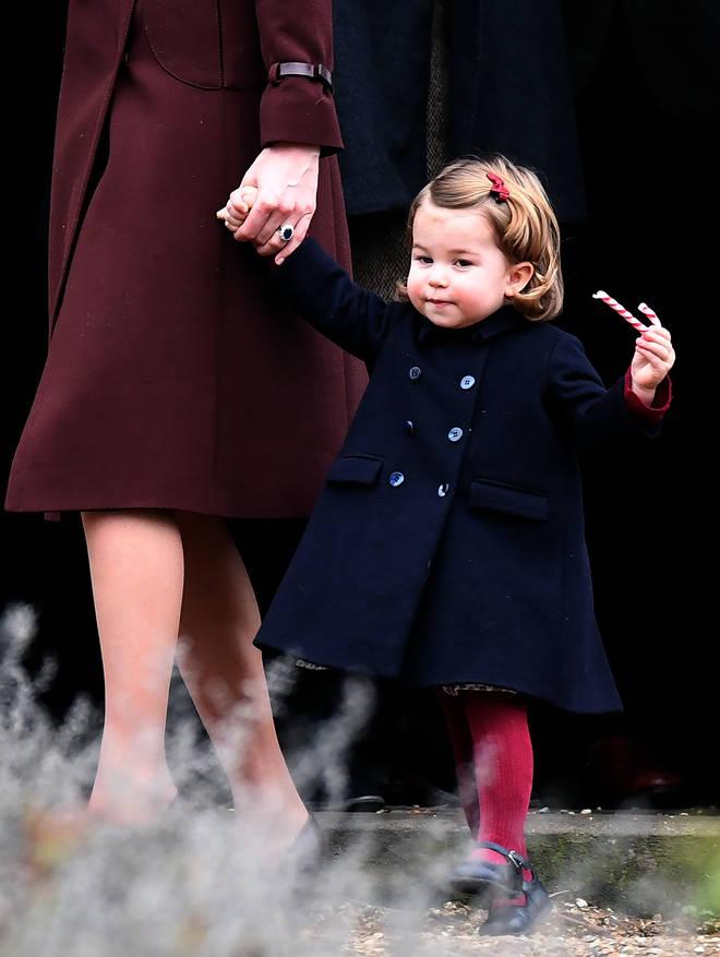 Princess Charlotte on Christmas Day 2016