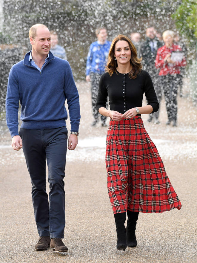 Wills and Kate hosted a Christmas party last year for the family of deployed military