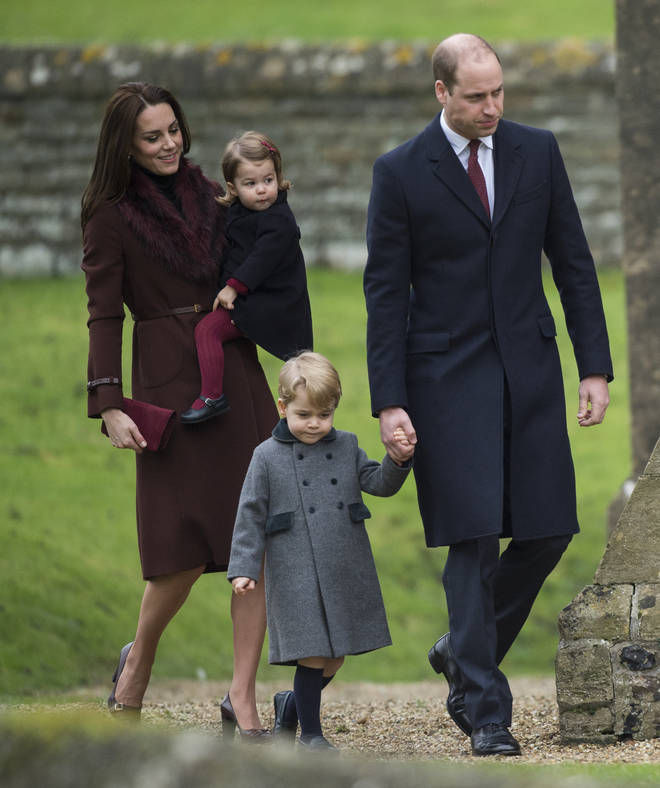 It was the first year that George and Charlotte made an appearance at Christmas