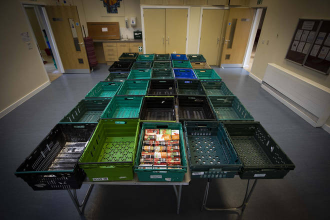 The family have had to use food banks to get by