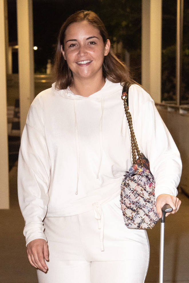 Jackie pictured on her way to Australia at the airport
