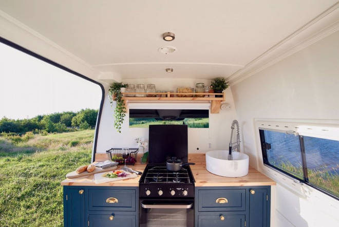 Inside you'll find luxury kitchens with running water and electric cookers.