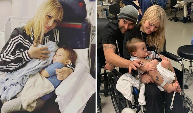 Natasha Bedingfield has been in hospital with her son Solomon
