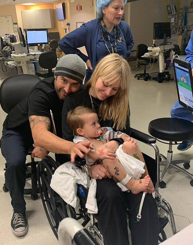 Natasha will be back at the hospital for her son's operation following a show in Las Vegas