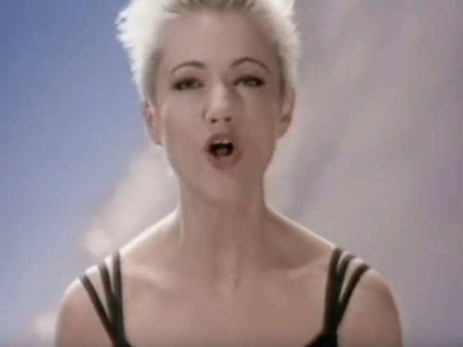 Marie in the music video for Joyride, released in 1991