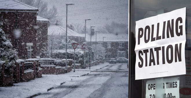 UK weather: snow expected across Britain on election day this Thursday
