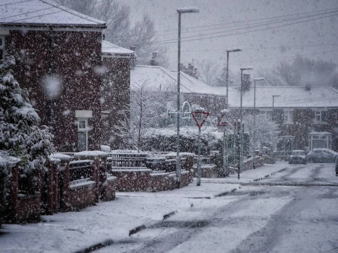 Snow has been predicted in some parts of the UK on Thursday (stock images)