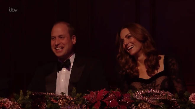 Prince William and Kate Middleton were amused by the jokes