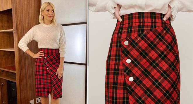 Holly Willoughby's skirt is Maje Paris