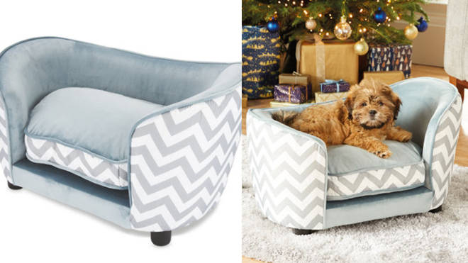 Aldi are selling the cutest gift for your furry friends – a mini sofa pet bed.