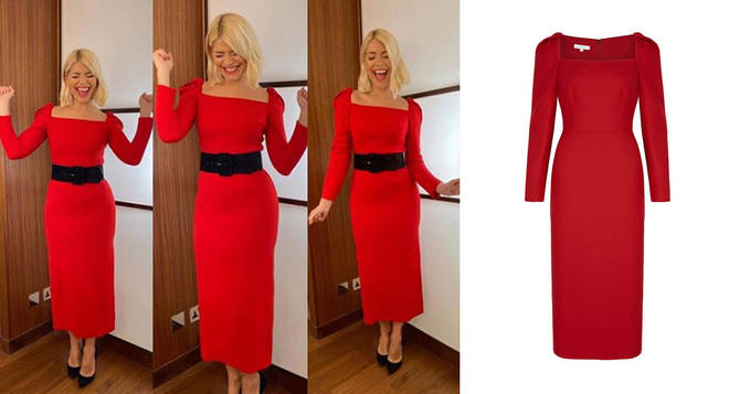 Holly Willoughby's dress is from Suzannah Fashion