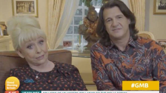 Barbara appeared on Good Morning Britain with her husband Scott earlier today