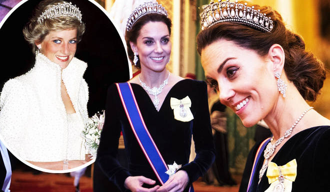 The Duchess of Cambridge wore Princess Diana's tiara for a reception at Buckingham Palace