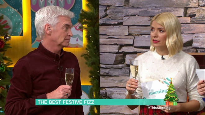 Before the segment, the presenters enjoyed around eight glasses of bubbly