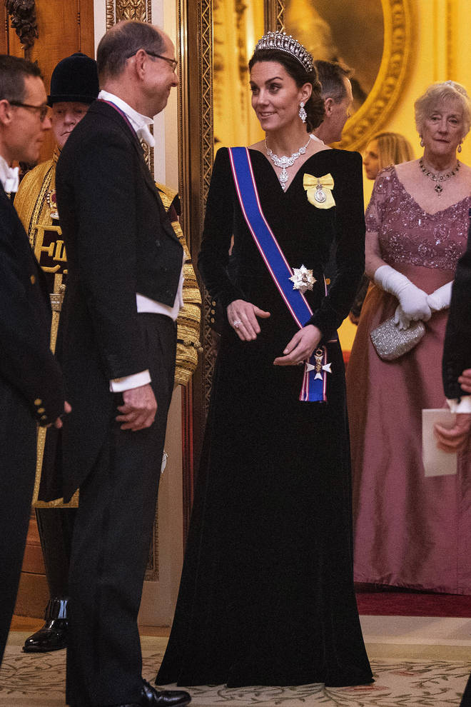 The Duchess of Cambridge wore an Alexander McQueen gown for the event