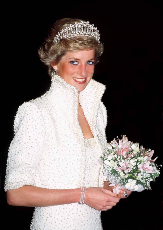 Princess Diana most famously wore the tiara in Hong Kong