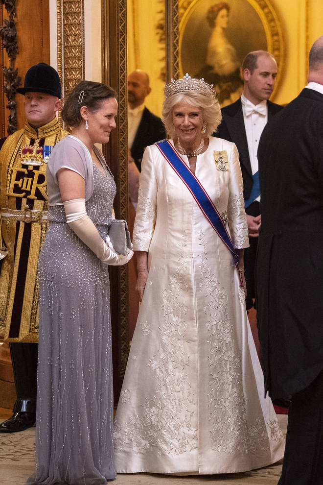 Camilla, the Duchess of Cornwall, also attended the reception