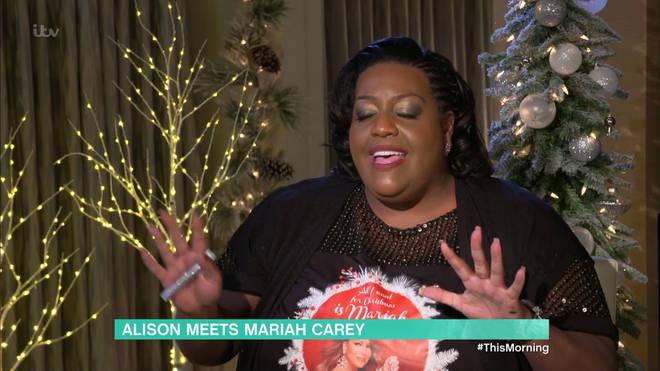 Alison sang Mariah her own Christmas song
