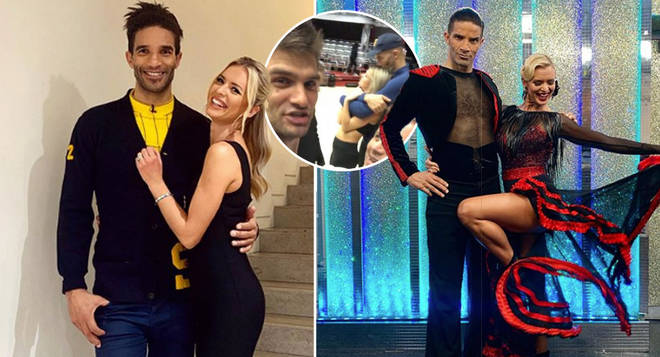 David James has been spotted getting cosy with his former Strictly partner