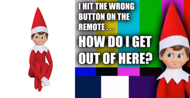 You can trap your Elf on the Shelf inside the TV