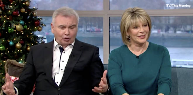 Eamonn joked about the big thing between his legs
