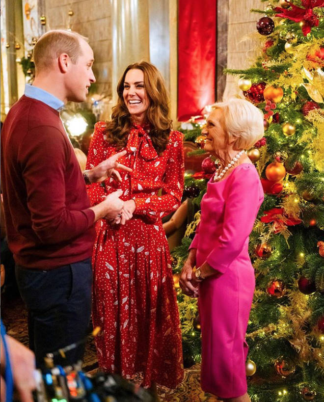 The royal couple appeared in a special focused around a Christmas party they threw for the staff at charities and organisations they work with
