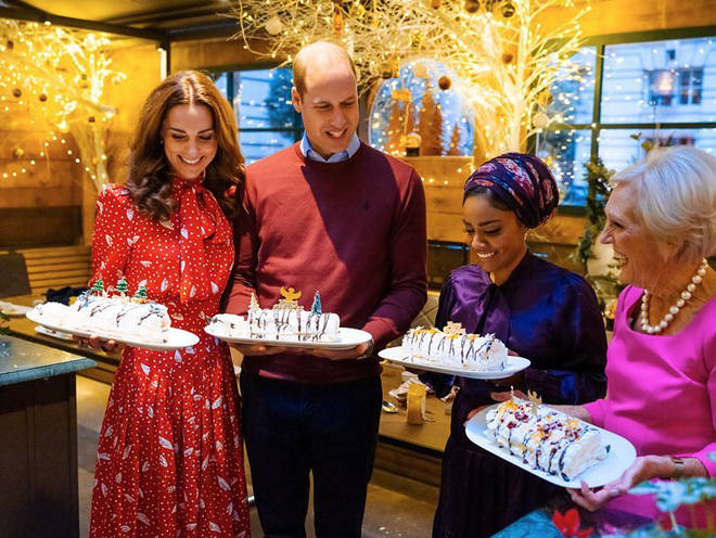 The Duke and Duchess of Cambridge had a bake-off with Mary Berry