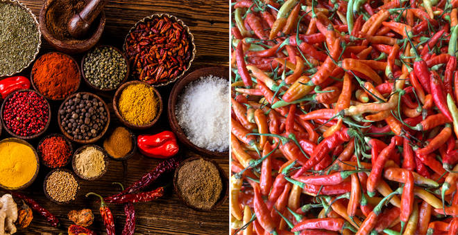 It's been claimed that spicy food could reduce risk of early death (stock images)