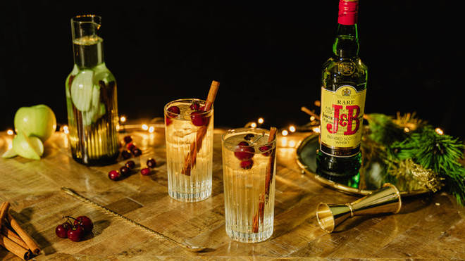 A classic whisky soda gets a festive upgrade