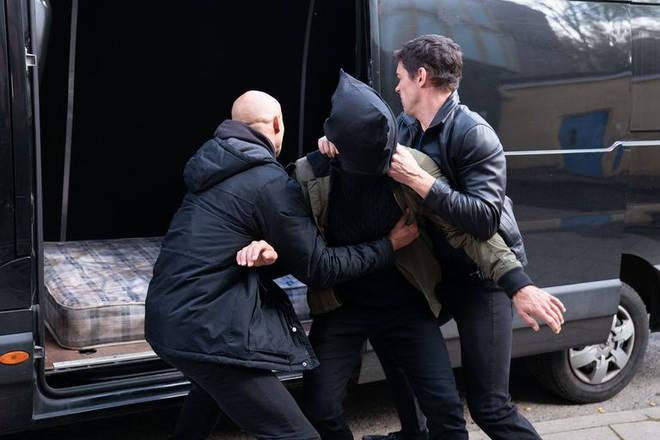 Jack was bundled into the back of a van