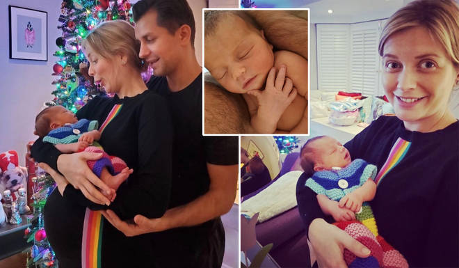 Rachel Riley and Pasha have welcomed a baby girl