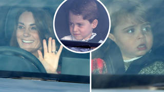 Kate Middleton drove with Prince Louis and Princess Charlotte into the Palace