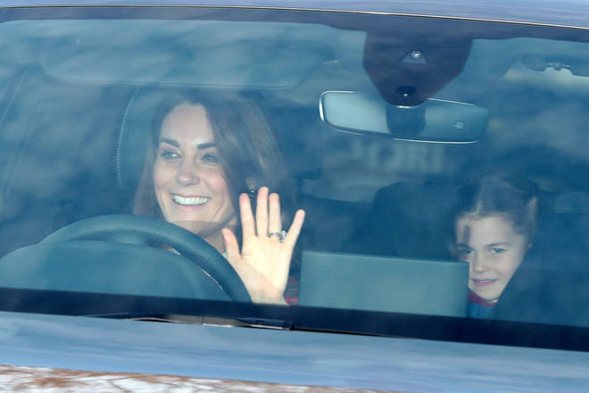 Princess Charlotte sat next to Louis for the journey