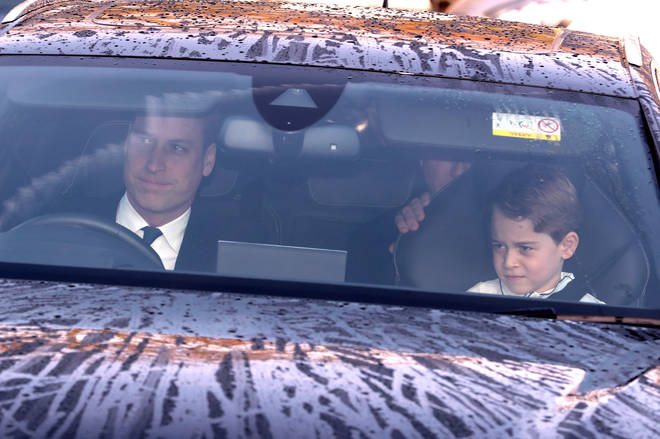 Prince William drove in aa separate car with Prince George