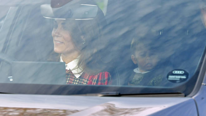 The Duchess of Cambridge appeared to be wearing a tartan dress for the occasion