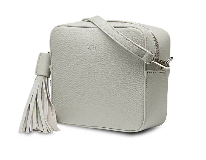 You can get their cross-body bags personalised with your initials