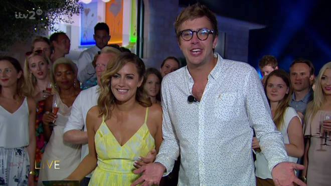 Caroline pictured with Iain on this year's show in the summer
